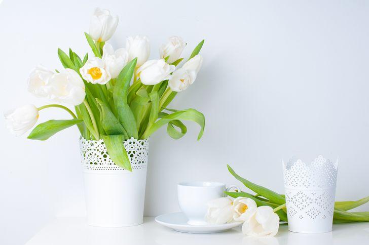 Beyaz bir vazoda beyaz çiçekler.jpg