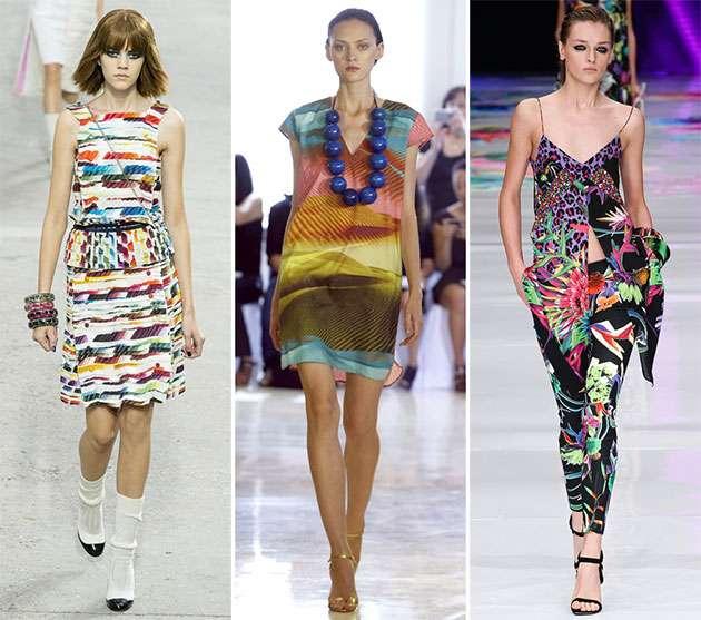 İlkbahar  Yaz 2014 Elbise Baskı Trendleri