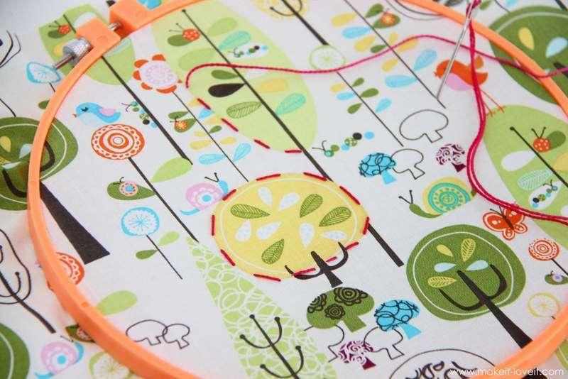 isterseniz hazır çizili, desenli kumaşta kullanabilirsiniz