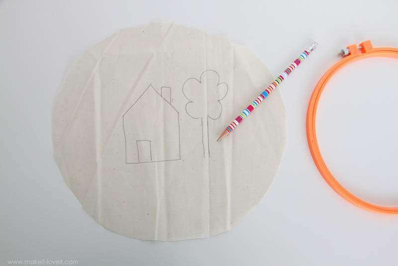 istediğimiz basit bir resmi kumaşa çizmekle başlıyoruz