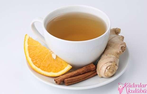 Orange tea with cinnamon and ginger