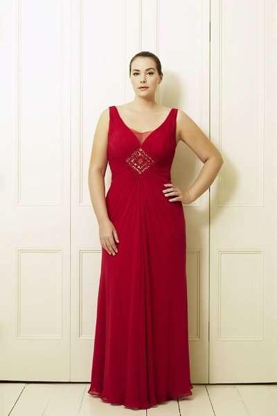 büyük beden kırmızı gece elbisesi