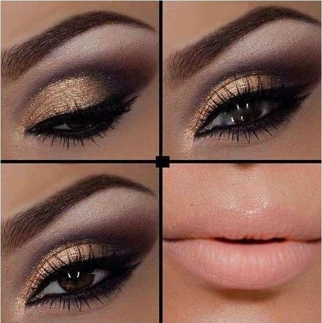 kahverengi gözler için makyaj