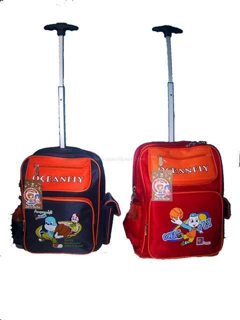 çekçekli kırmızı okul çantası