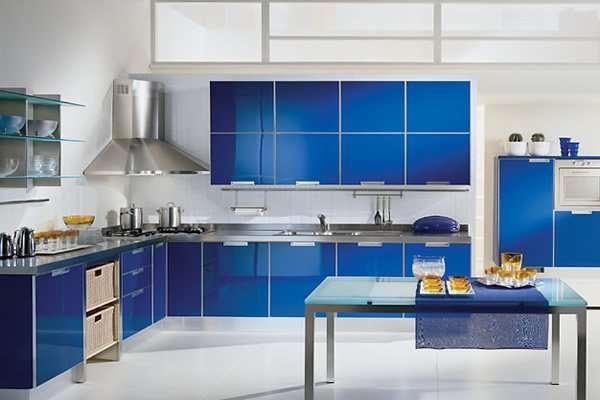Mavi renk mutfak modelleri 2015 kad nlar kul b - White and blue in interior design an ideal combination ...