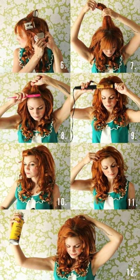 Какую можно сделать прическу накрученные волосы
