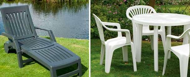 Plastik Bahçe Mobilyası Örnekleri