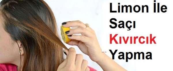 Limon İle Saç Buklesi Nasıl Yapılır Resimli Anlatım