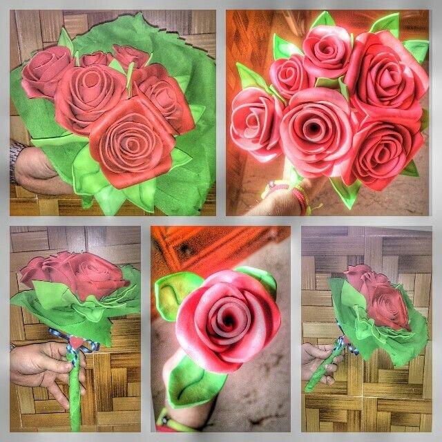 Eva Süngerinden çiçek Yapımı En Güzel 40 örnek