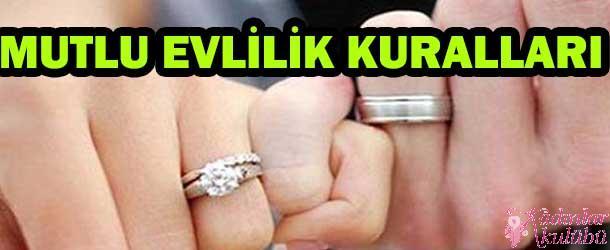 Mutlu evlilik kuralları