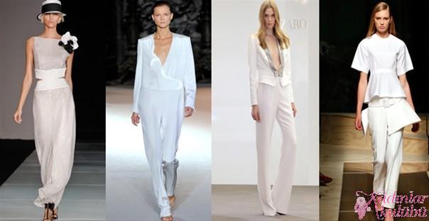 Pantolonlu Gelinlik Modelleri