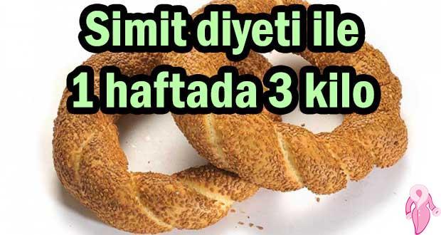 Simit diyeti ile 1 haftada 3 kilo