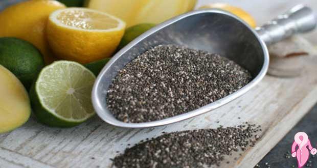 Chia tohumu ve limonla göbek eritme