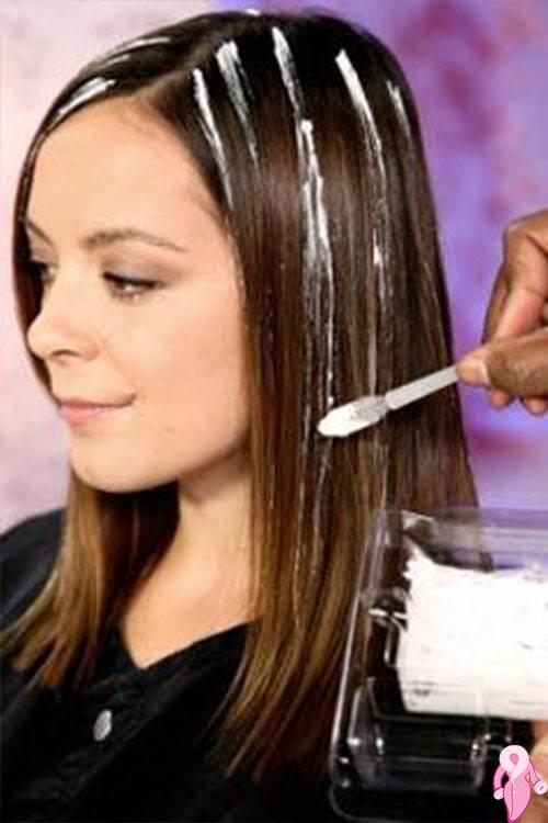 Как делают мелирование волос видео
