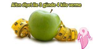 Altın diyet ile 3 günde 4 kilo verme