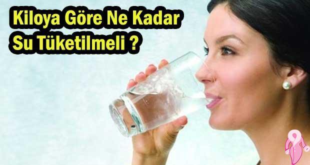Kiloya Göre Ne Kadar Su Tüketilmeli
