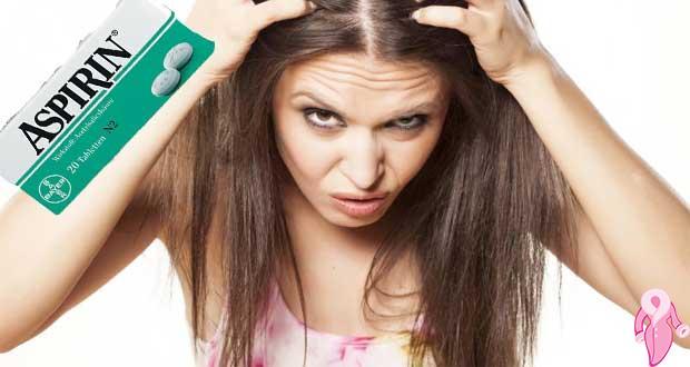Aspirin ile saç uzatma maskesi