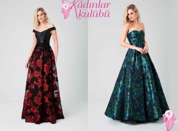 e03df12058c87 Farklı abiye elbise modelleri arayışınız varsa bu senenin trendi olan çiçek  desenlerine bakabilirsiniz. Baharın gelişiyle beraber renkli çiçekler ve  iki ...