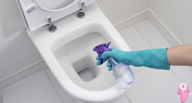 Sararan tuvaletlerin temizlenmesi