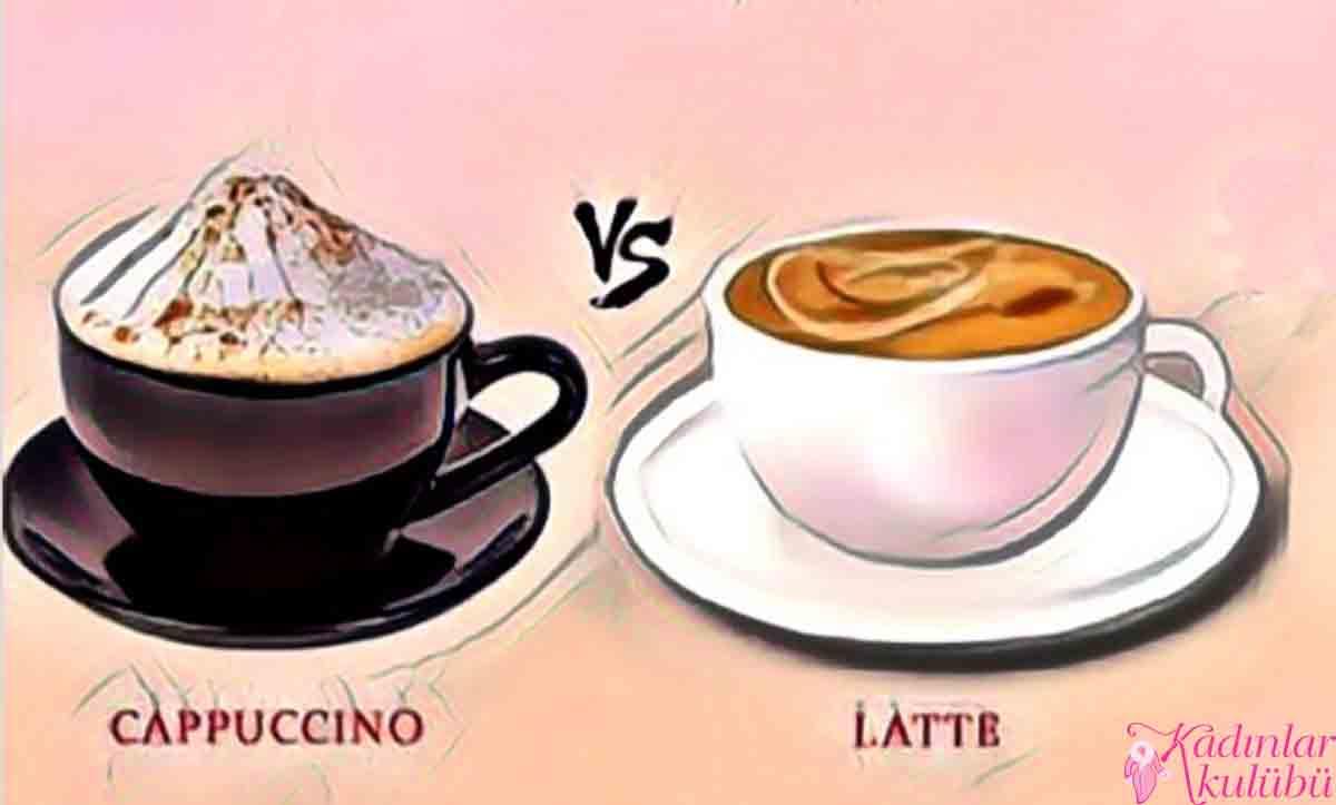 cappuccino latte farkı