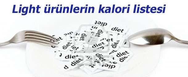Light ürünlerin kalori listesi