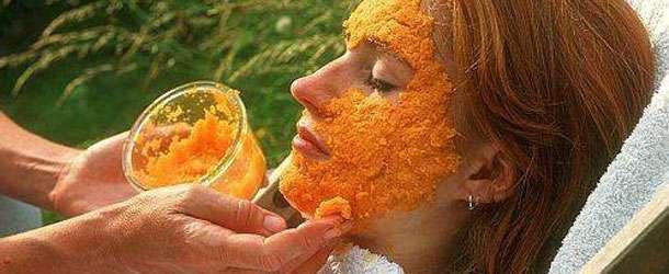Sivilce ve Lekeler için havuç maskesi