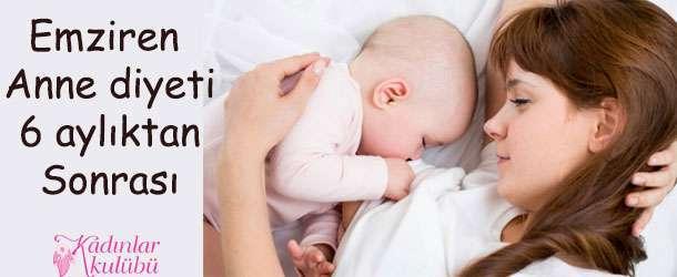 Emziren Anne Diyeti 6 Aylıktan Sonrası