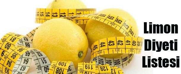 Limon Diyeti Listesi