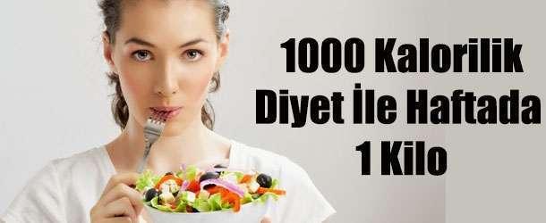 1000 Kalorilik Diyet Listesi