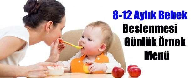 8-12 Aylık Bebek Beslenmesi Günlük Örnek Menü