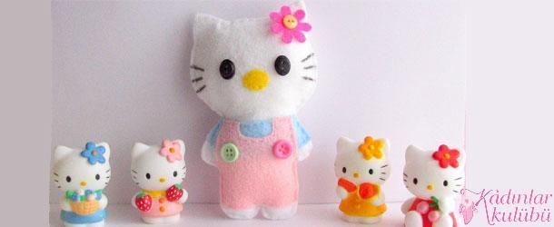 Çoraptan Hello Kitty Yapımı Resimli Anlatım