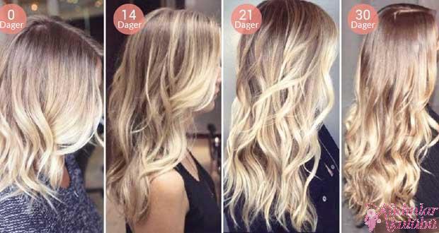 Saç uzatma yolları kürleri