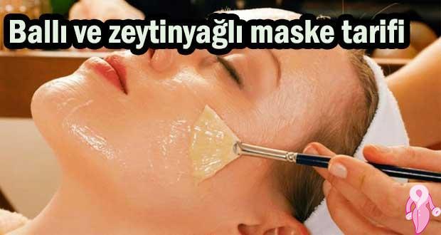 Ballı ve zeytinyağlı maske tarifi